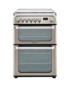 Hotpoint HUD61XS Dual Fuel Cooker